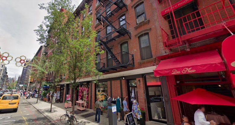 168 Mulberry Street in Little Italy, Manhattan via Google Maps