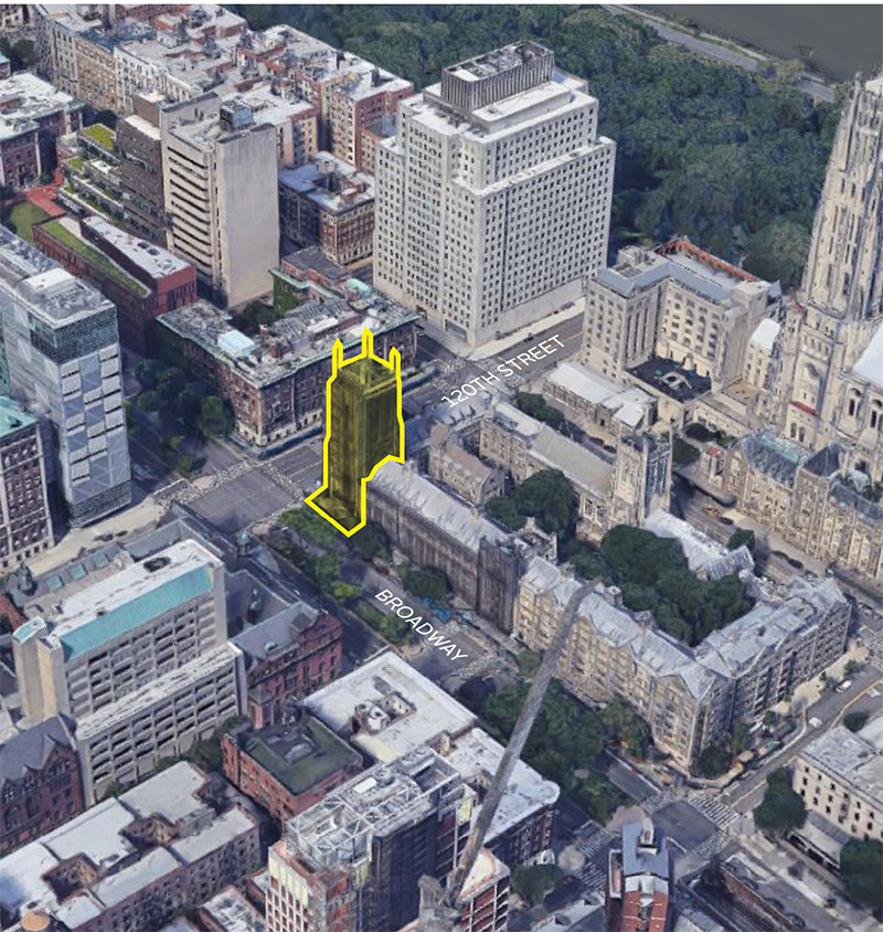 Site map of the Union Theological Seminary campus - Beyer Blinder Belle