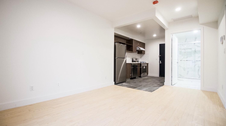 Interiors at 379 Harman Street in Bushwick, Brooklyn