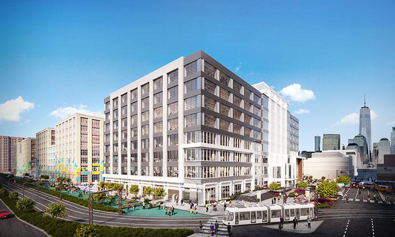 Alternative rendering of Harborside buildings 1, 2, and 3 - Photo courtesy of Mack-Cali