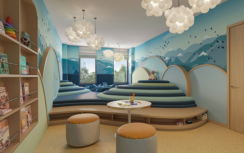 Childrens playroom at One Boerum Place - Williams New York; SLCE Architects