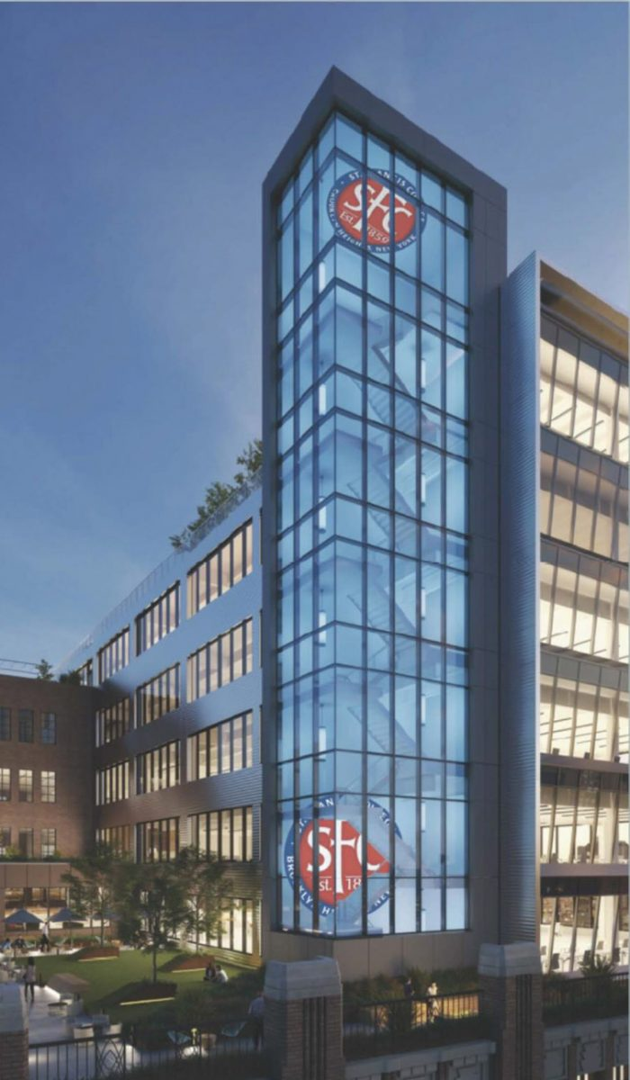 Exterior rendering of the new Saint Francis College Downtown Brooklyn