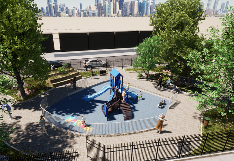 Rendering of Fairmount Triangle Park in Jersey City
