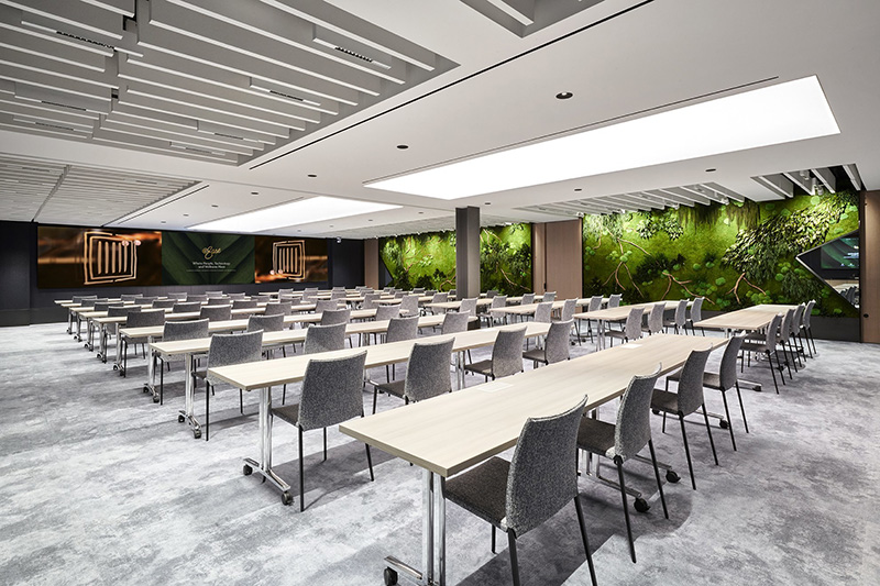 Flexible conference and event room within @Ease1345 - Courtesy of Fisher Brothers Management Company