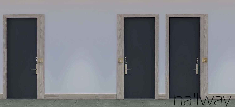 Hallway at 2337 Bedford Avenue in Flatbush, Brooklyn