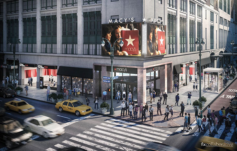 Lower level rendering of Macy's New York City flagship store - FXCollaborative
