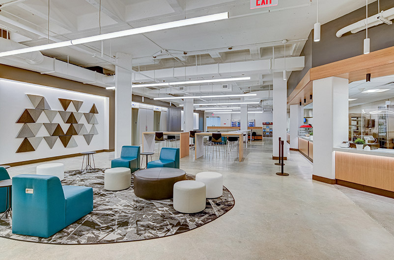 Office spaces at 200 Wood Avenue South - Photo courtesy of SJP Properties
