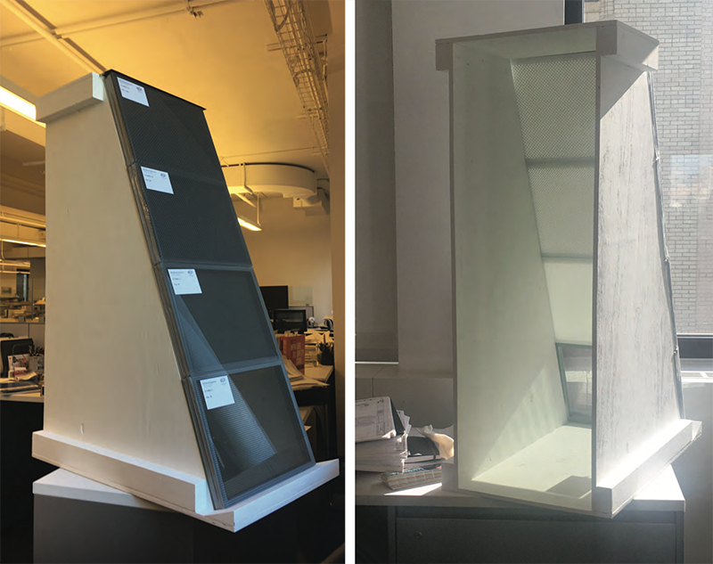 Physical mockups of the proposed shaded glazing system at The Metropolitan Museum of Art - Beyer Blinder Belle