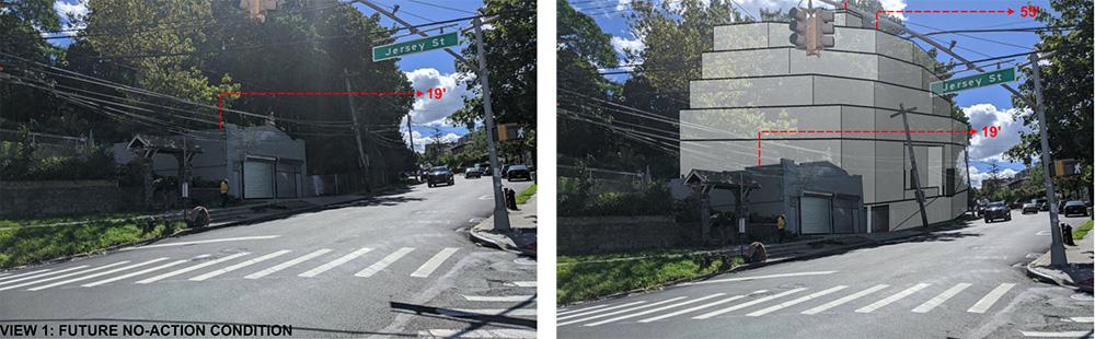 Rendering illustrates massing at 252 Victory Boulevard - 252 Victory Boulevard Realty, LLC
