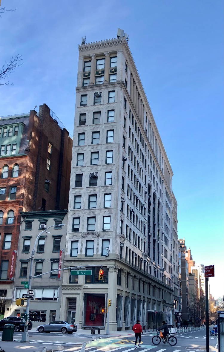 View of The Education Building at 70 Fifth Avenue - Photo courtesy of the Greenwich Village Society for Historic Preservation