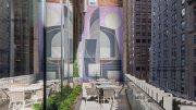 View of Tony Sjoman's latest mural at The Centrale - Photo by Jakob Dahlin