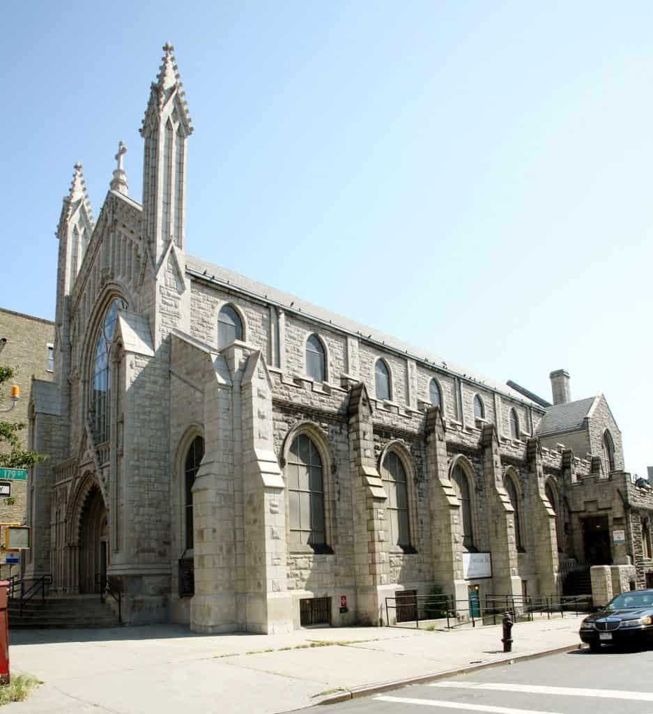View of the Holyrood Episcopal Church-Iglesia Santa Cruz - Photo courtesy of The Landmarks Preservation Commission