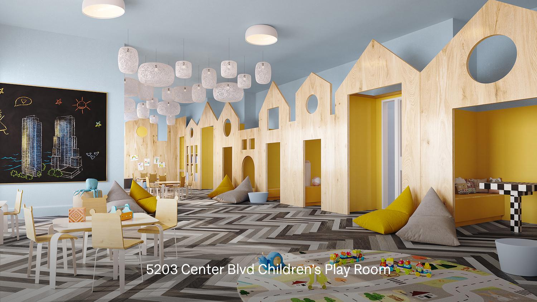 Children's playroom at 5203 Center Boulevard