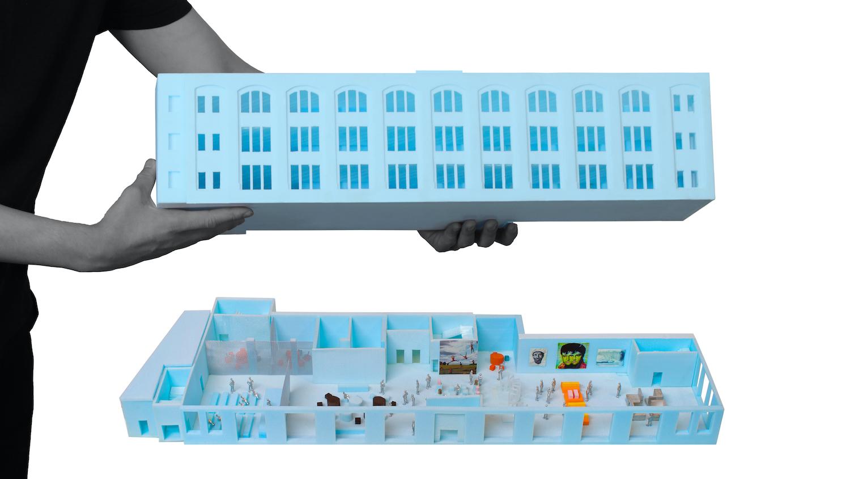 Conceptual Model of the Centre Pompidou × Jersey City Museum