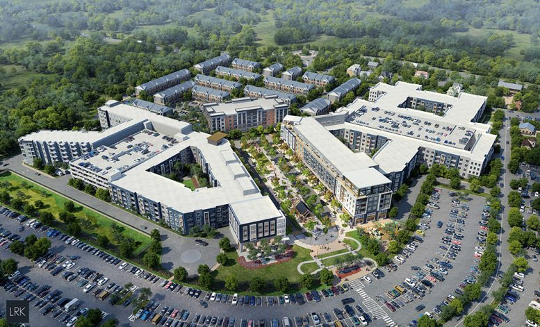Aerial rendering of the 25-acre West Windsor Princeton Junction community - AvalonBay Communities