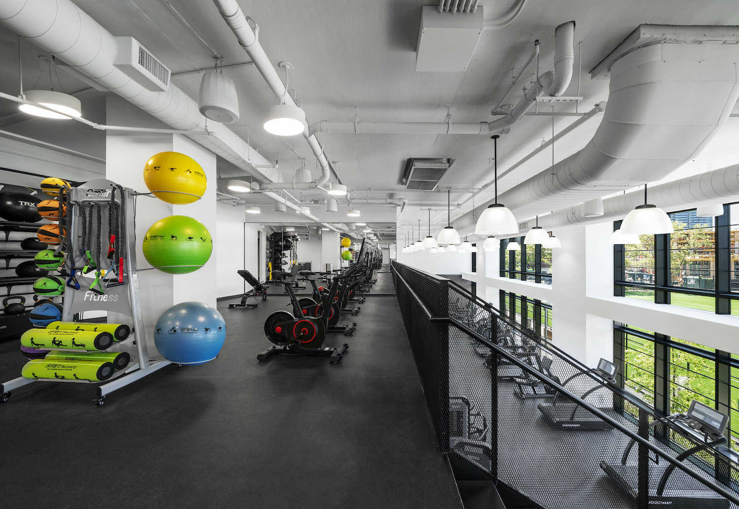 Gym at Two Blue Slip in Greenpoint, Brooklyn