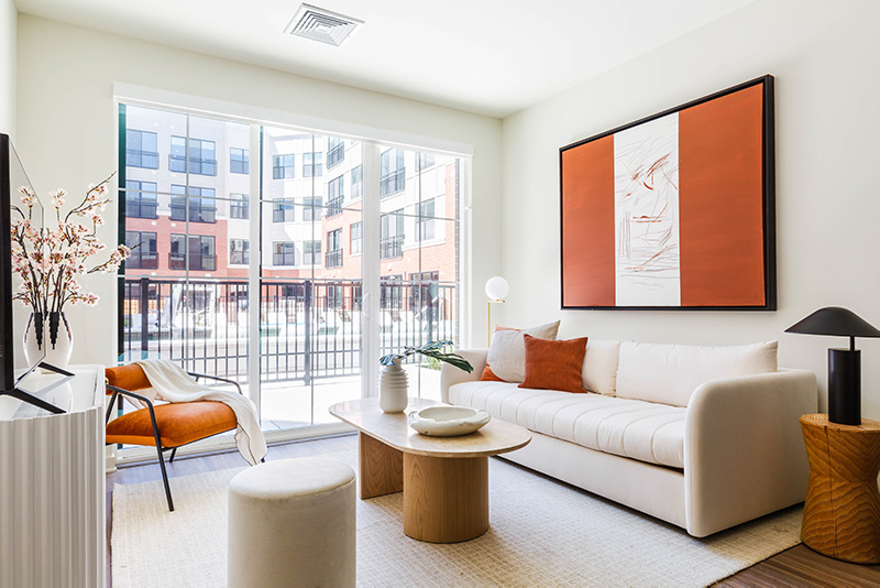 Model apartment at The James - Photo by Alex Staniloff of Gotham Interiors