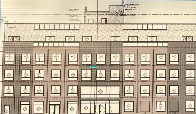 Preliminary renderings of the buildings found on construction posters at 389 Weirfield Street - Aufgang Architects; The Horizon Group