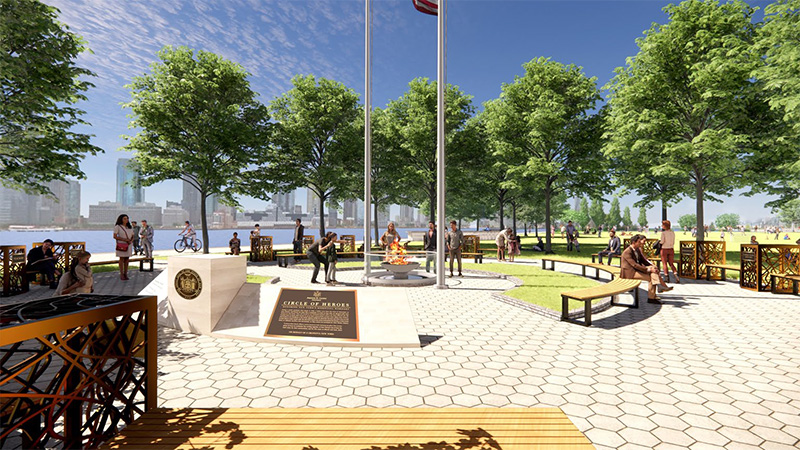 Rendering of 'Circle of Heroes' Essential Workers Monument and plaza - Courtesy of Governor Andrew Cuomo's office