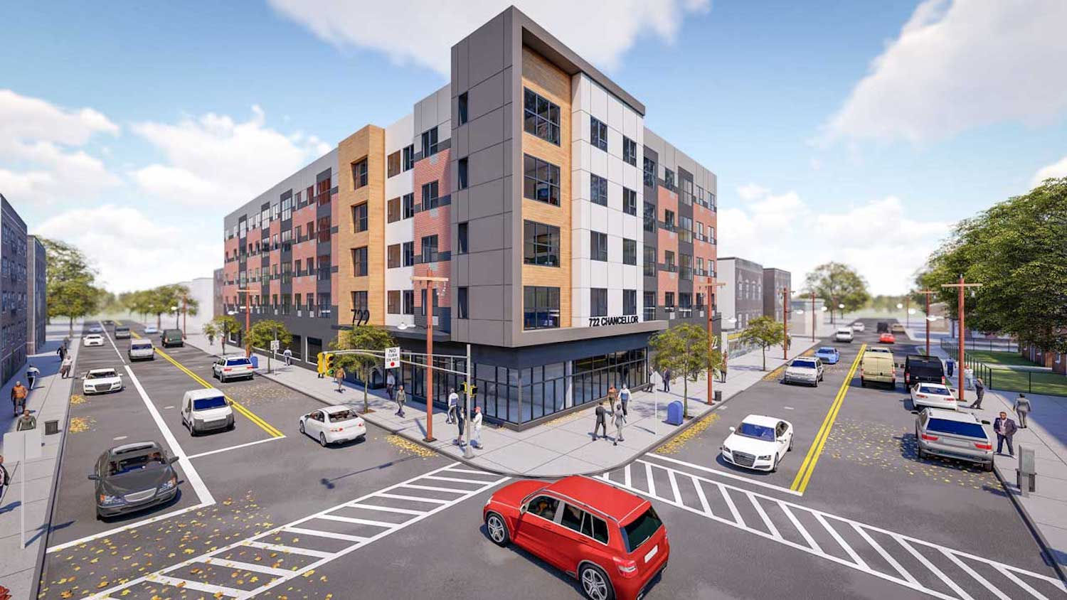 Rendering of 722 Chancellor Avenue in Irvington — Courtesy of OCA Architects
