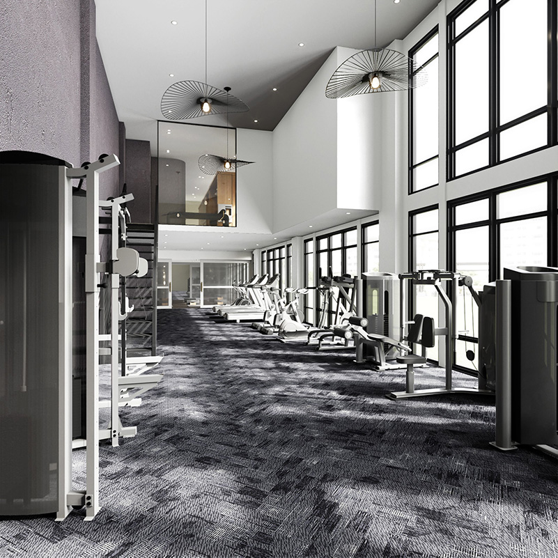 Rendering of Solaia's fitness center - Skyline Development Group