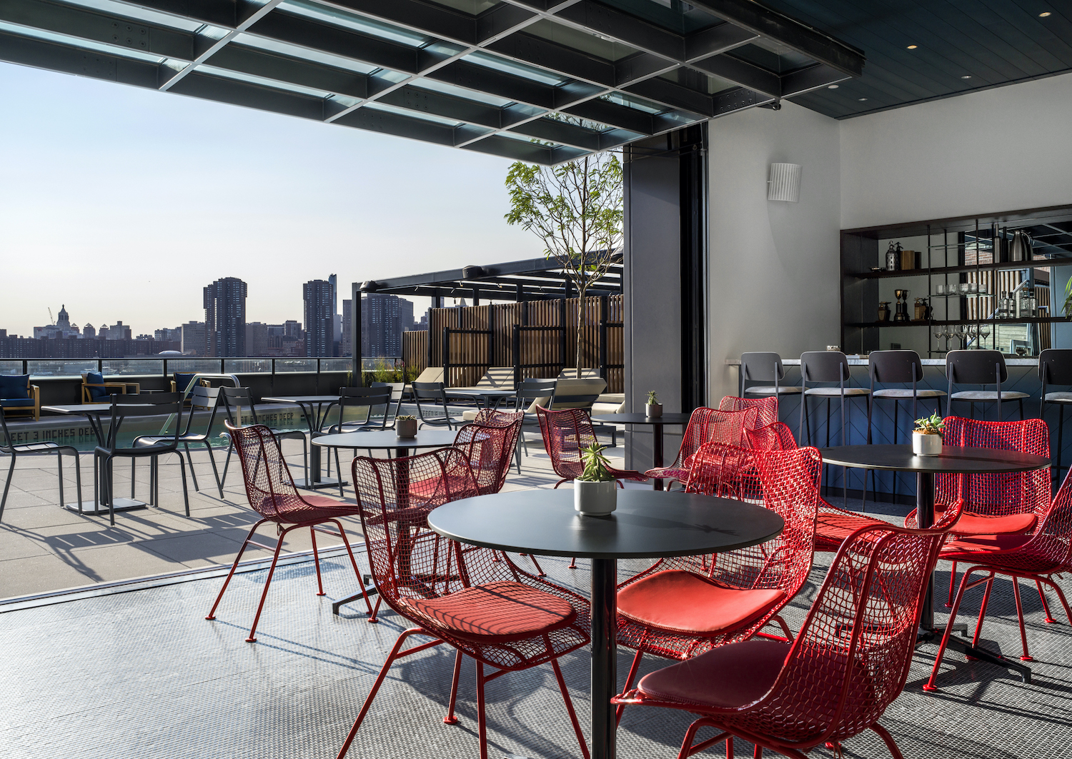 Lounge at Two Blue Slip in Greenpoint, Brooklyn