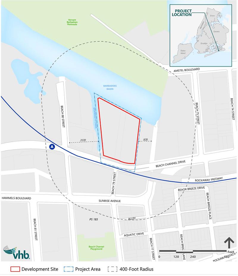 Site map illustrates proposed Beach 97 storage facility - VHB