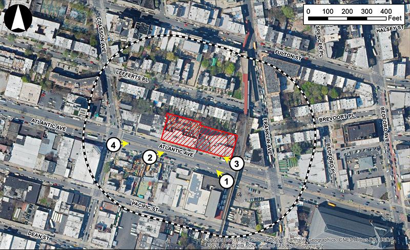 Site map of 1045 Atlantic Avenue