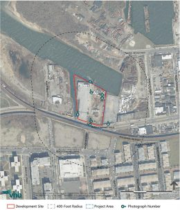 Site map of proposed development site for Beach 97 storage facility - VHB
