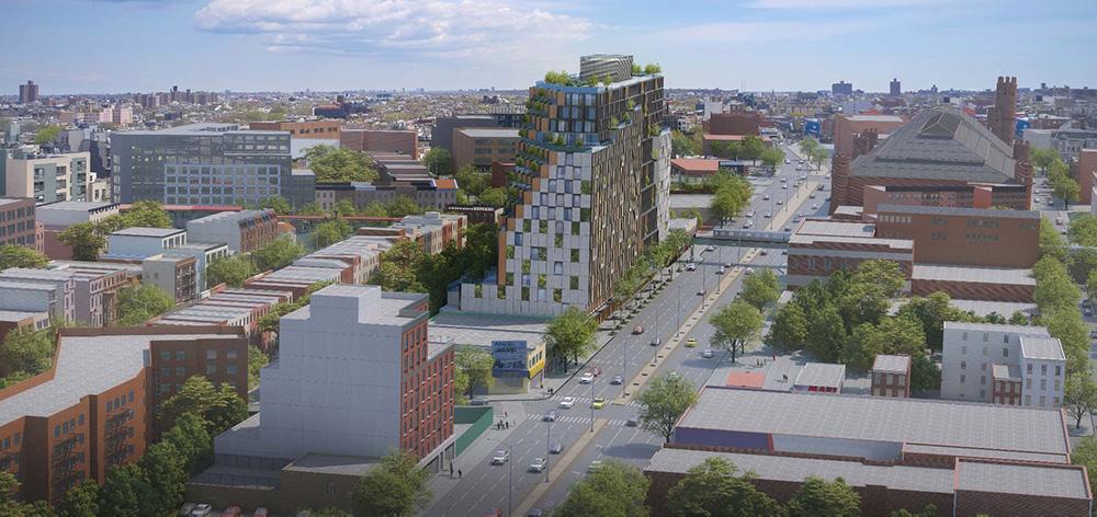 Updated rendering of 1045 Atlantic Avenue - TOTEM; dencityworks