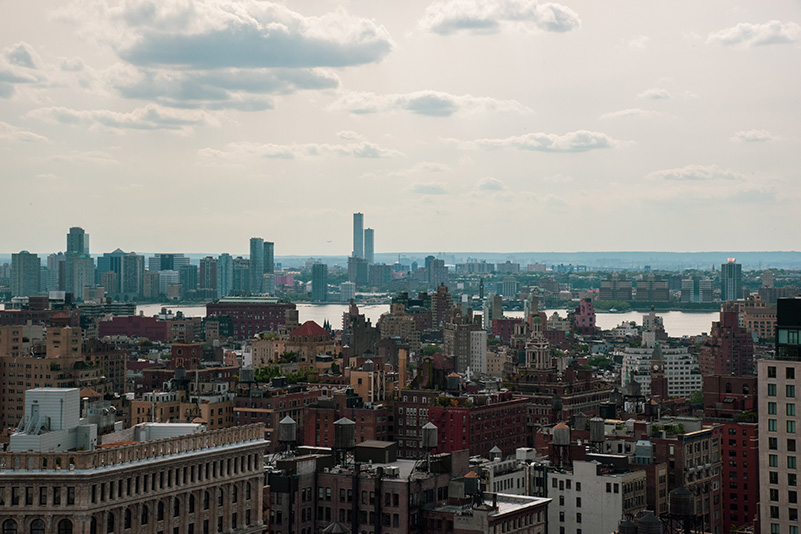 View of Jersey City from the top floor of Zero Irving - Photo Credit: Agency In Pursuit