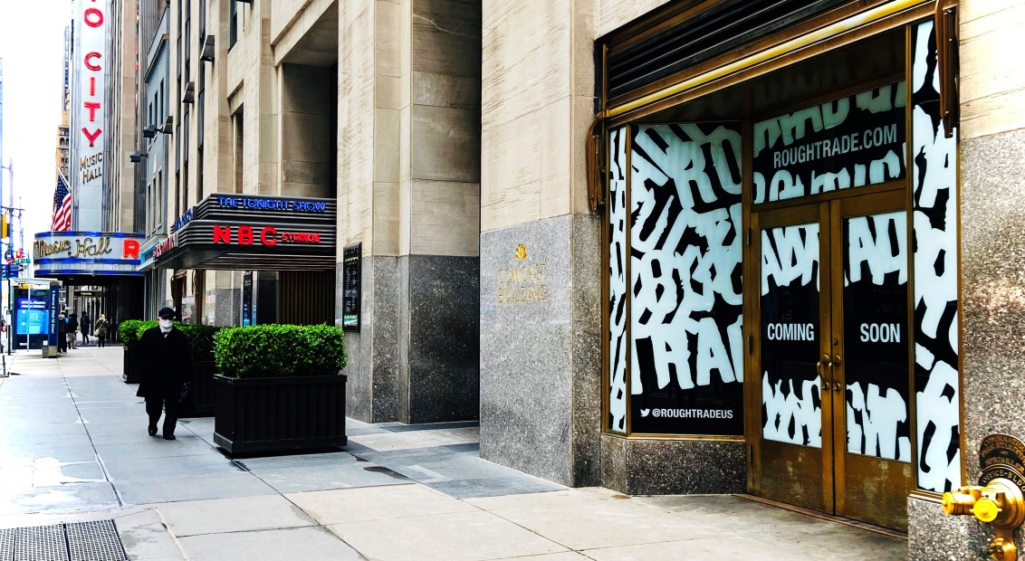 View of Rough Trade's new retail location at 30 Rockefeller Plaza prior to opening June 1, 2021 - Photo Credit: Rough Trade