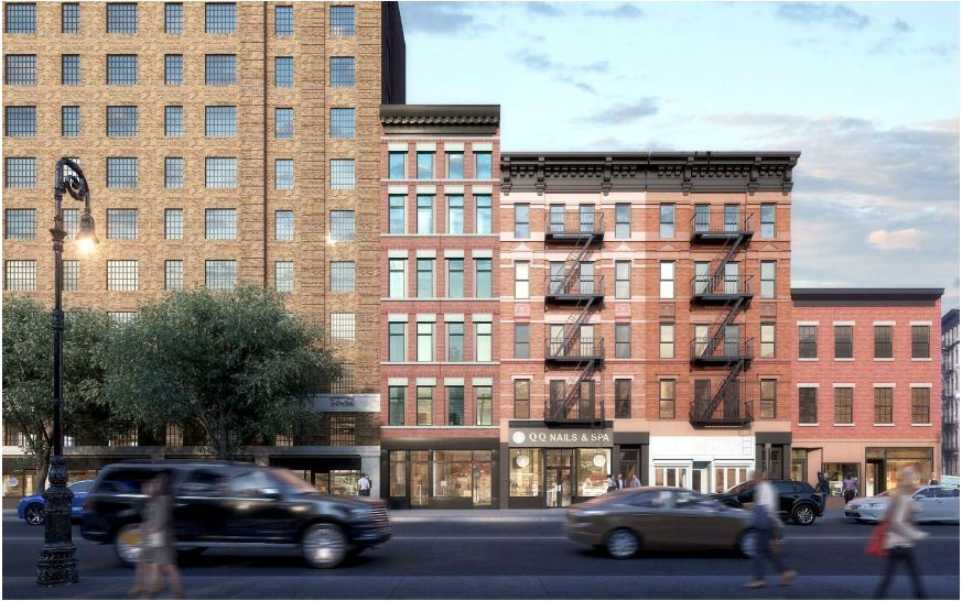 Rendering of 15 Greenwich Avenue and surrounding properties - Meltzer/Mandl Architects