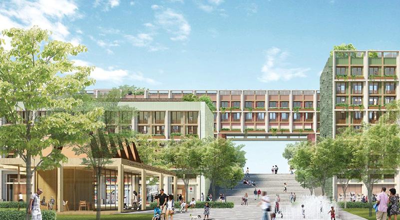 Rendering of the expanded Kingsboro Psychiatric Campus - Courtesy of Adjaye Associates