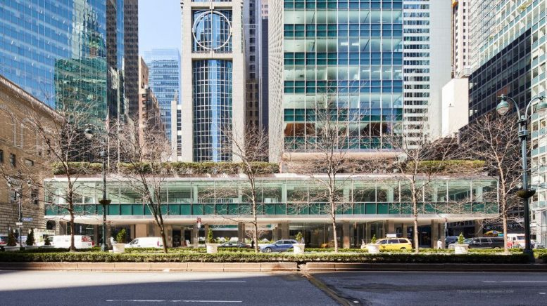 Existing ground floor conditions at Lever House - Courtesy of Skidmore, Owings & Merrill (SOM)