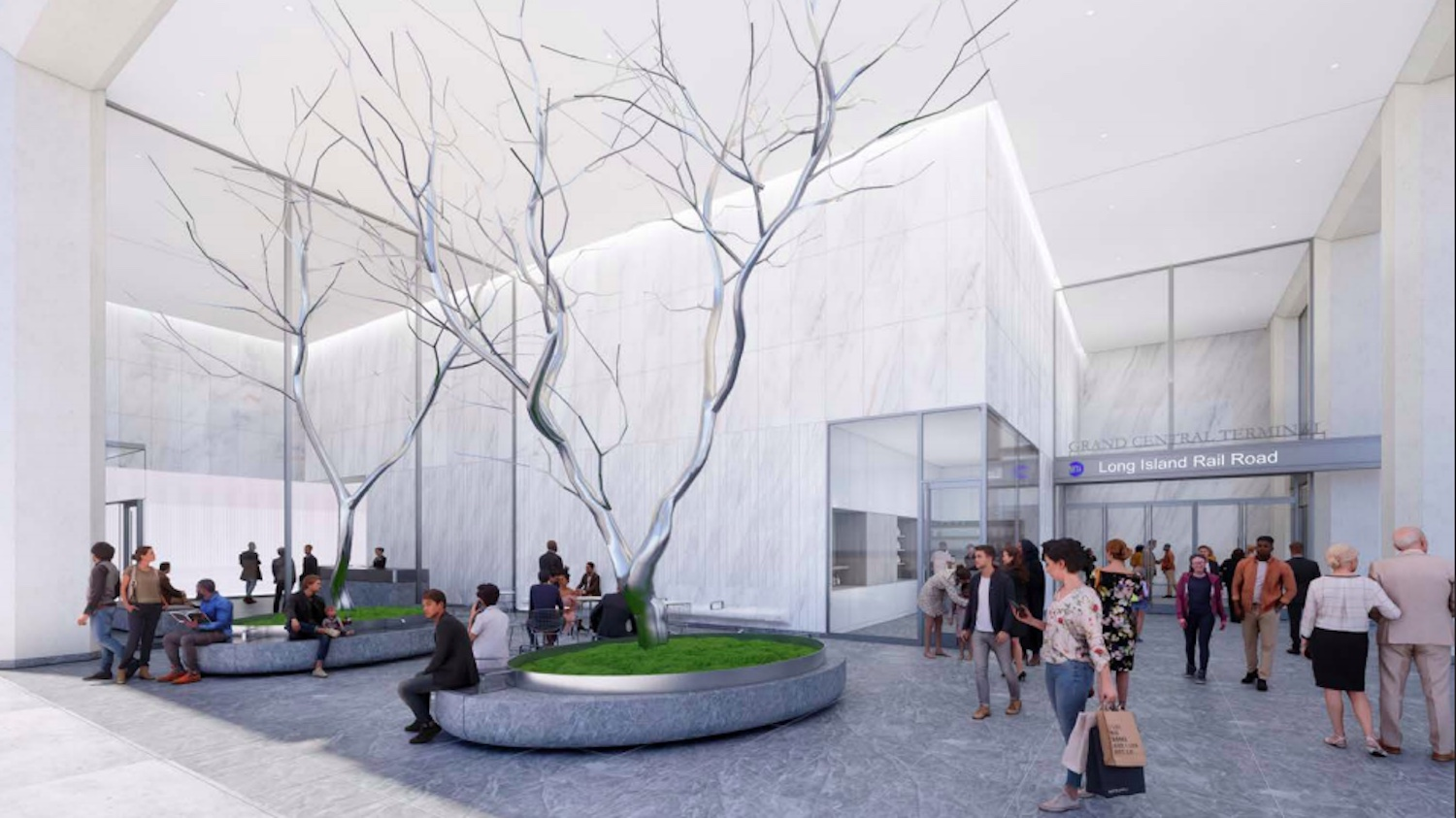 Illustrative rendering of the concourse. Courtesy of SOM