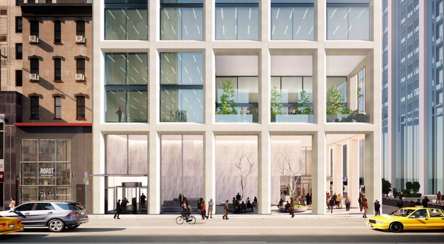 Illustrative rendering of the With Action Development Site from Madison Avenue. Courtesy of SOM