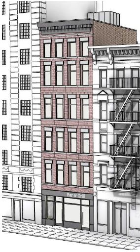 Preliminary rendering of 15 Greenwich Avenue - Meltzer/Mandl Architects