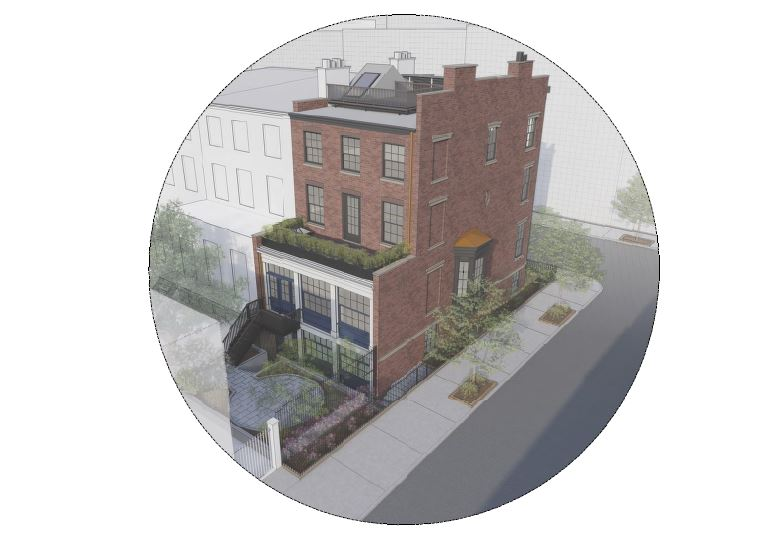 Rendering of 109 State Street [rear, left] after renovation - CWB Architects