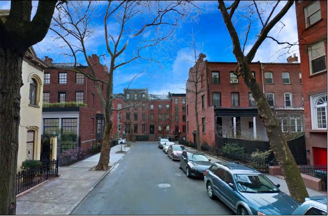 Rendering of 109 State Street [rear, left] along Sidney Place after renovation - CWB Architects