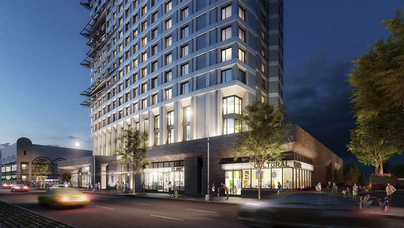 Rendering of lower levels at 425 Grand Concourse - Courtesy of Dattner Architects