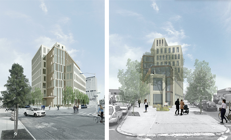 Renderings of proposed building at 1 Wythe Avenue