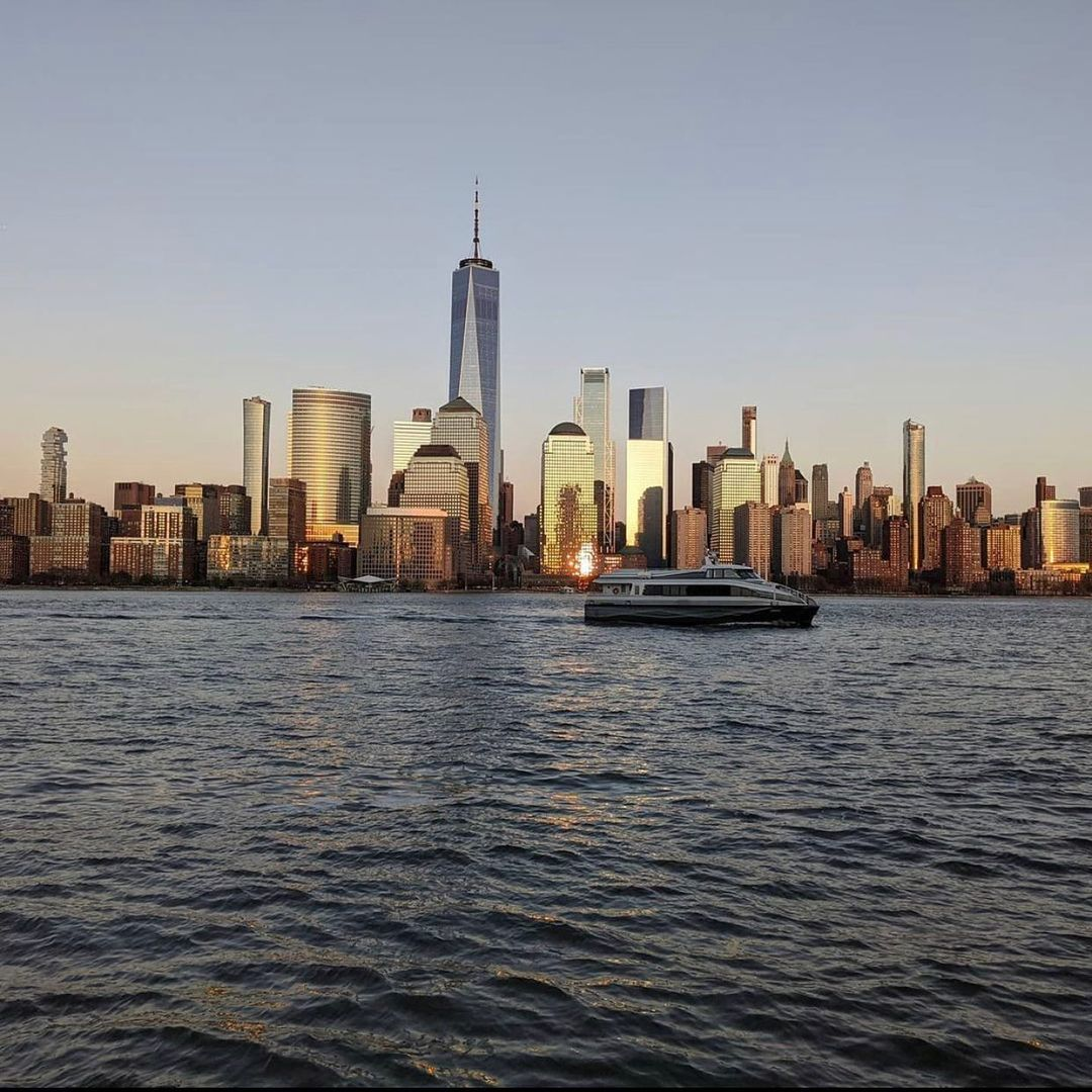 View of Manhattan from the Smorgusbar beer garden at Harborside Jersey City - Courtesy of Smorgusbar