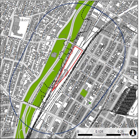View of Wakefield Village Project Site (outlined in Red)