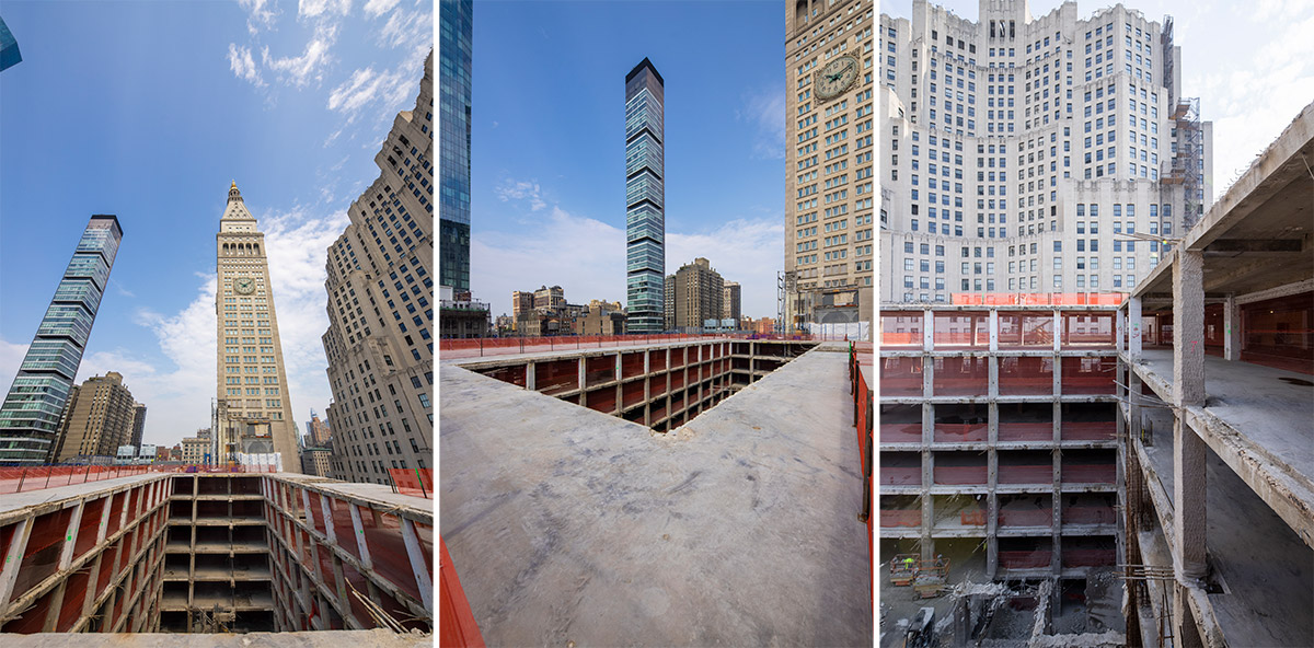 Views of partially demolished structure at One Madison Avenue - Photo by Jakob Dahlin