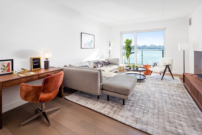 Model one bedroom apartment at The Beach - Courtesy of Newport Leasing Office