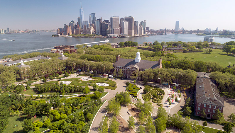 Aerial view of Governor's Island - Courtesy of The Trust for Governors Island