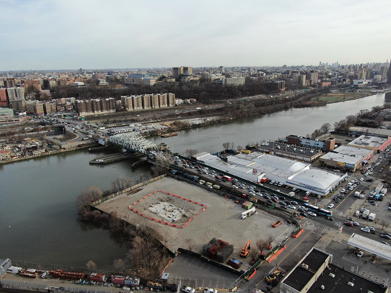 Aerial view of development site at 3875 9th Avenue