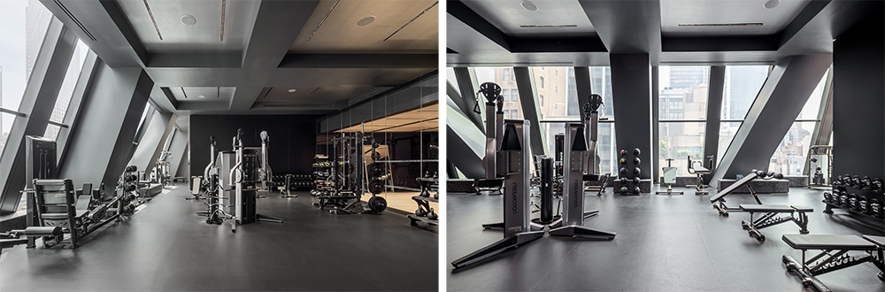 Fitness center at 53W53 - Photo by Evan Joseph