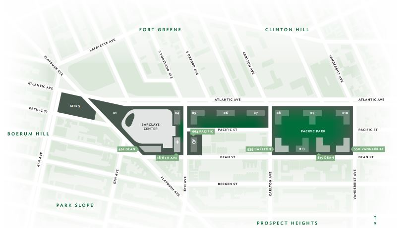 Illustrative map of the Pacific Park redevelopment zone